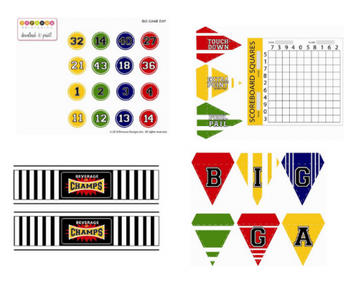 Sports Birthday Free Party Printables for Boys - Fun Birthday Party Ideas for Boys! LivingLocurto.com