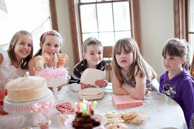 pink little girl's birthday party