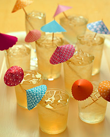 make your own cocktail umbrellas
