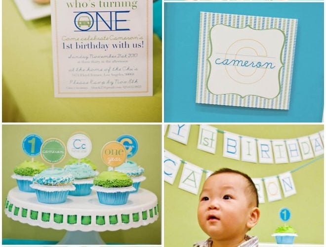 Modern Alphabet First Birthday