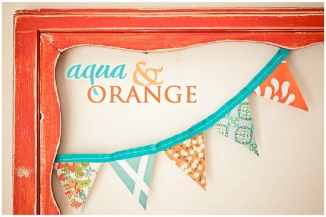 Aqua + Orange Baby Shower