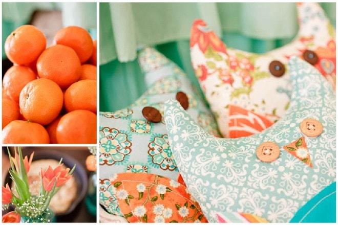 aqua orange baby shower 4