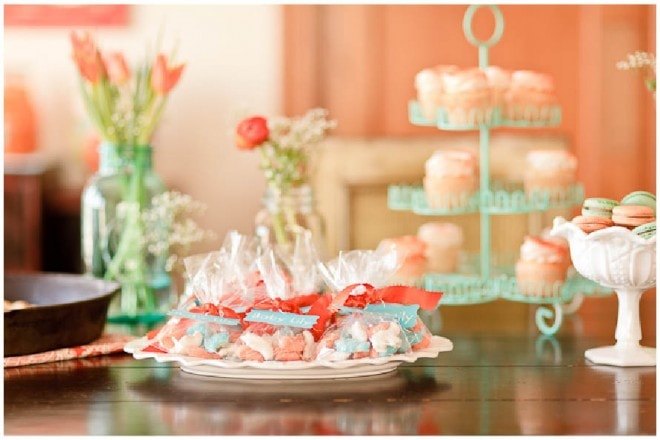 aqua orange baby shower 6
