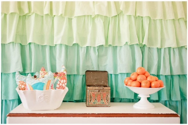 aqua orange baby shower 7