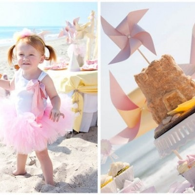 beach sand castle birthday cake