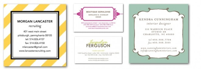 tiny prints business cards
