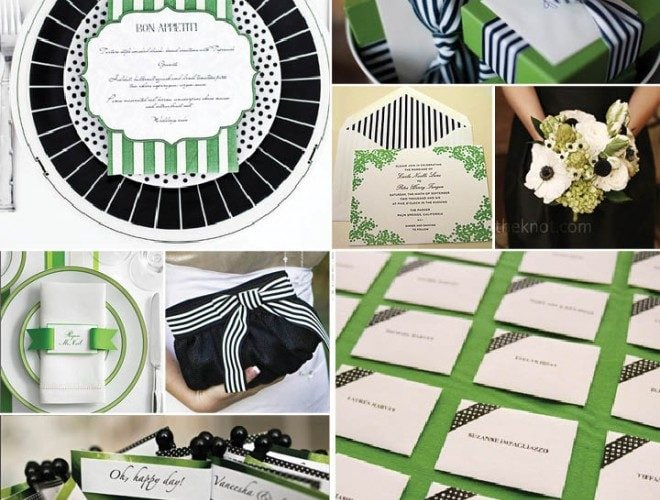 Black + White + Green Wedding Inspiration