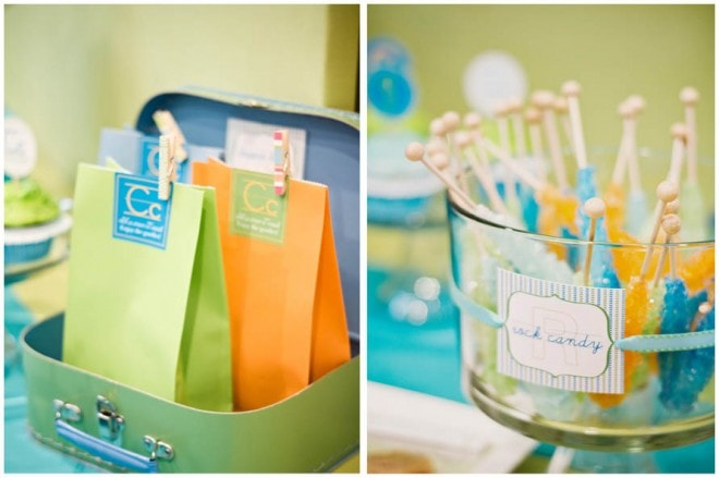 school lunchboxes rock candy party