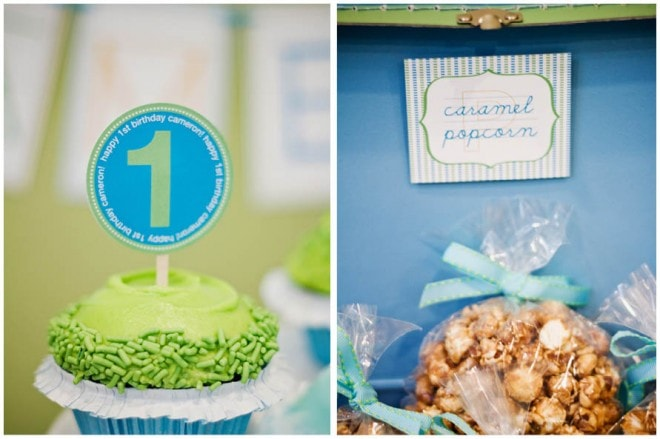 blue green birthday party pictures