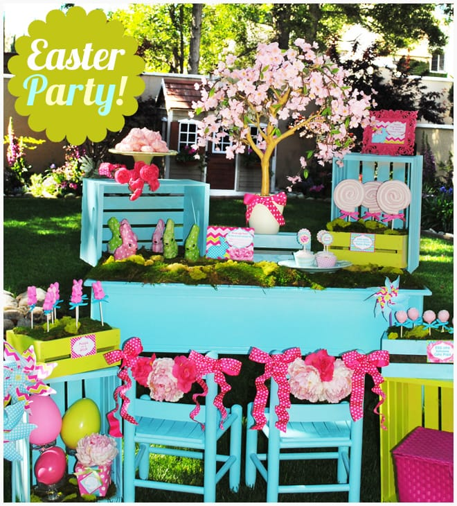 bright easter kids party