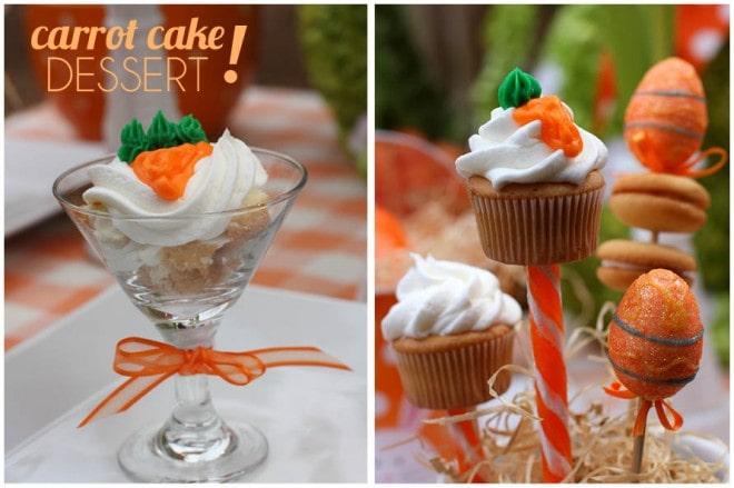 carrot cake cupcake skewers