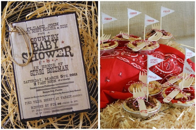 country themed baby shower