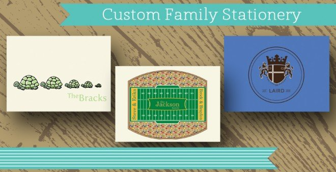 custom family stationery