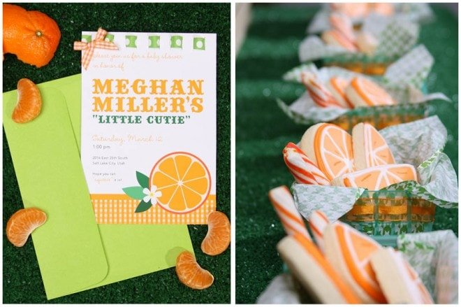 "Orange ""Cutie"" Themed Baby Shower"