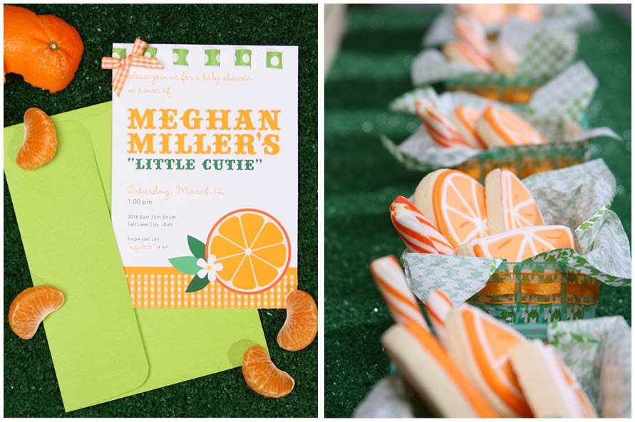 Charmant Cutie Orange Baby Shower Theme