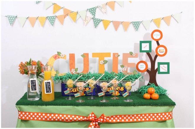 cutie baby shower theme orange