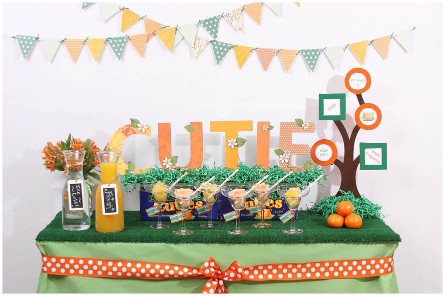 Uberlegen Cutie Baby Shower Theme Orange