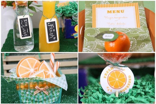 orange themed baby shower