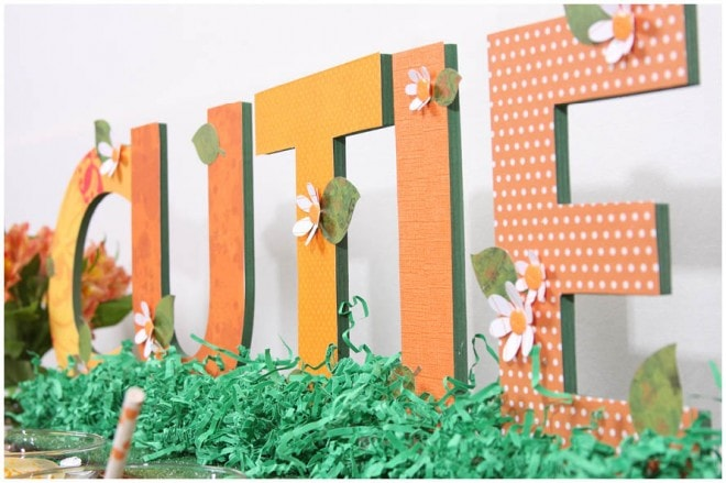wooden letters patterned craft