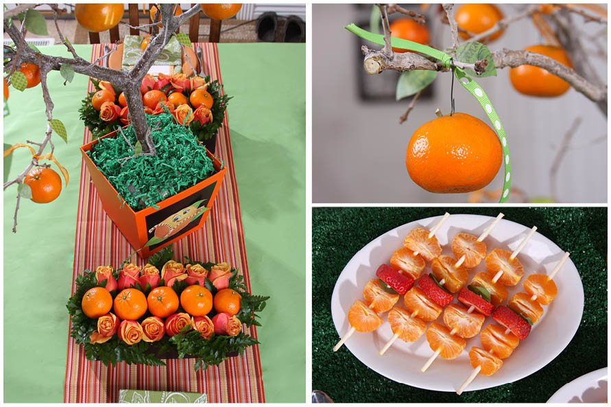 Orange Baby Shower