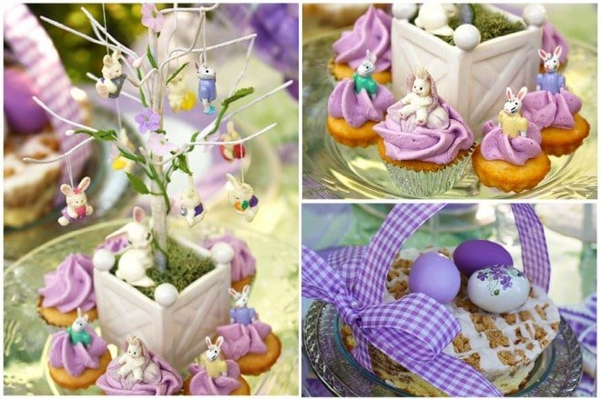 easter decorated tree lavender