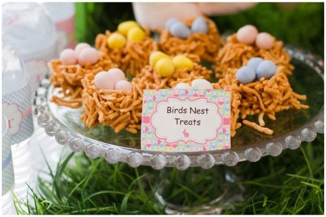 easter egg birds nest treats