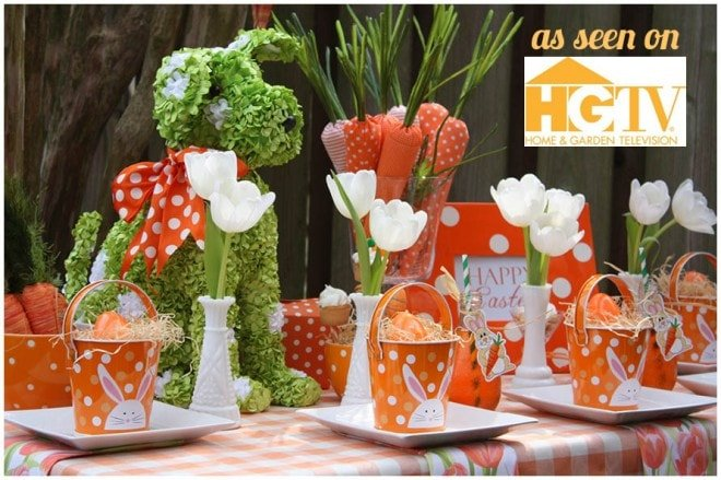 {HGTV Feature} Orange + Green Carrot Party