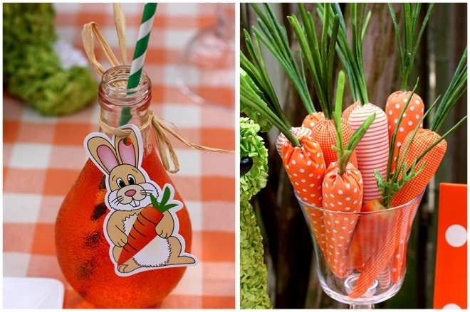 easter party carrots