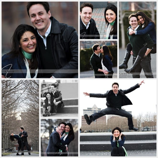 Wedding Engagement photos in hoboken