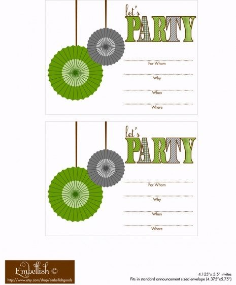 Free Birthday Party Invitation - Fun Birthday Party Ideas for Boys! LivingLocurto.com
