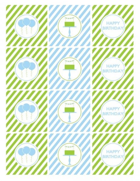 Happy birthday Free Party Printables - Fun Birthday Party Ideas for Boys! LivingLocurto.com