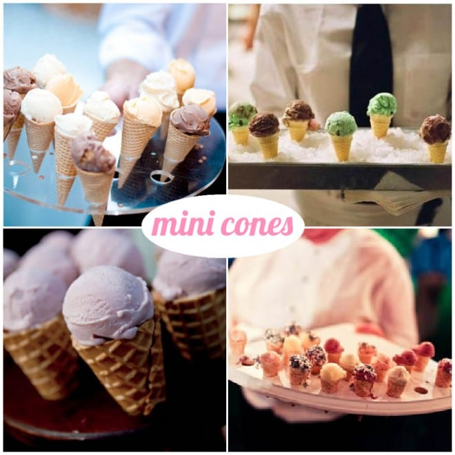 mini ice cream cones wedding
