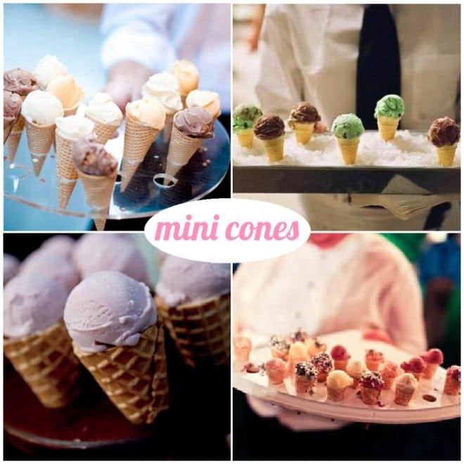 mini ice cream cones wedding