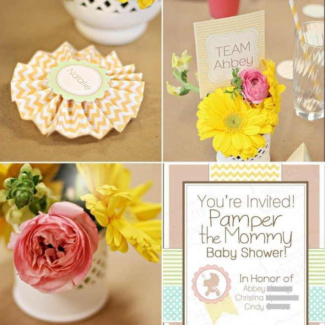 pamper the mommy baby shower 3