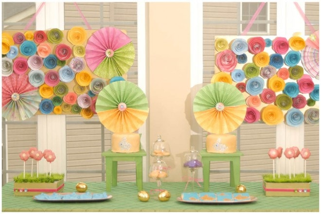 paper flowers spring party