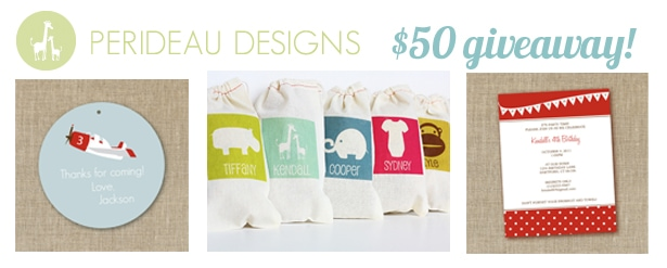 perideau designs giveaway