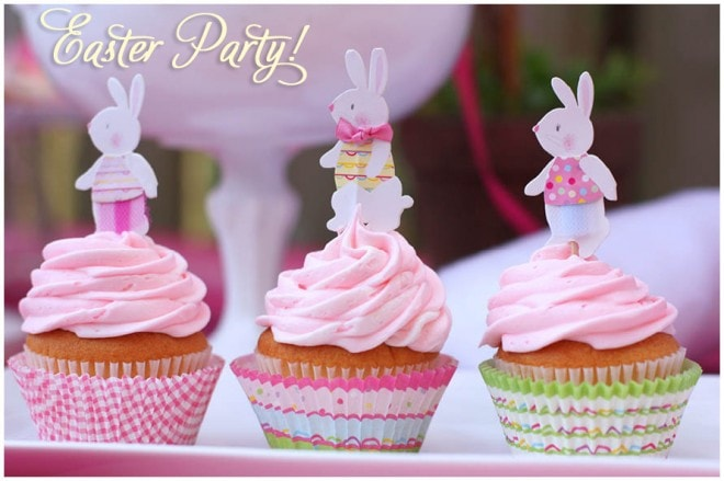 pink and yellow easter party tablescape2