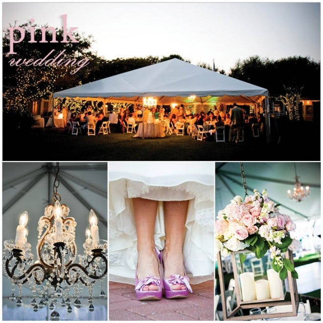 pink khaki wedding