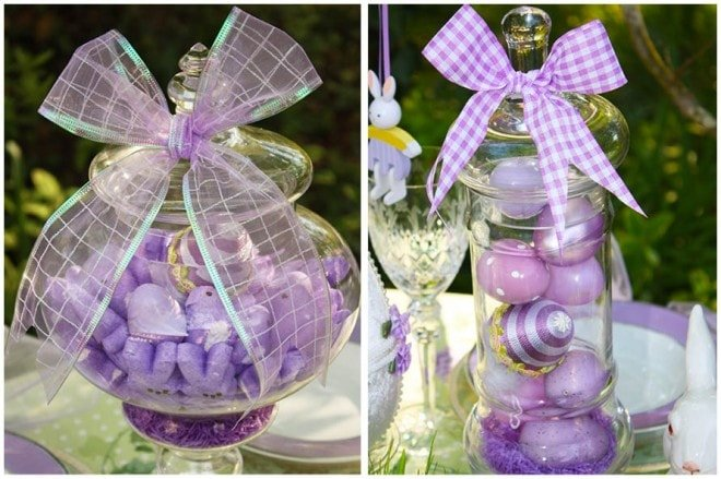 purple easter apothecary jars