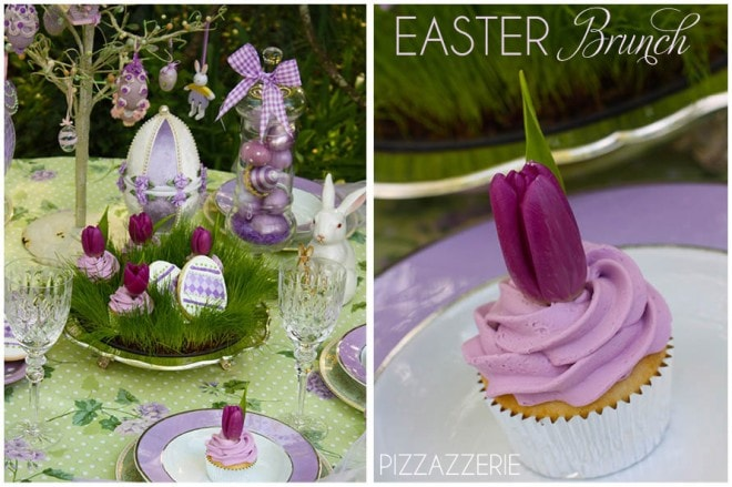 purple easter brunch