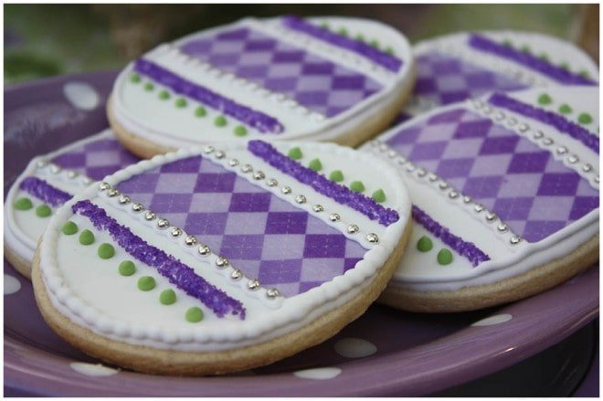 purple easter cookies