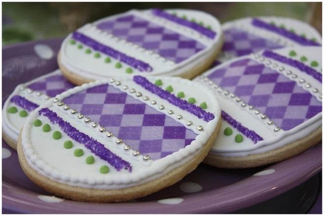 purple easter cookies