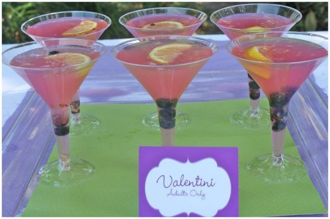 valentini cocktail at birthday party