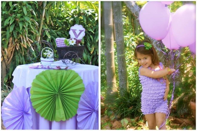 purple balloons birthday party