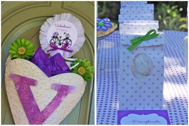 purple green birthday party picture