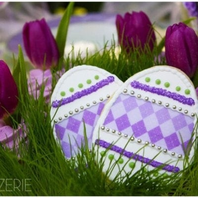 purple lavender easter cookies