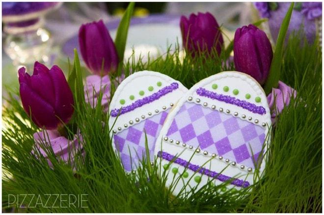 purple lavender easter cookies