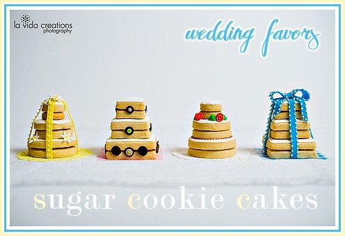 sugar cookie wedding cake favors