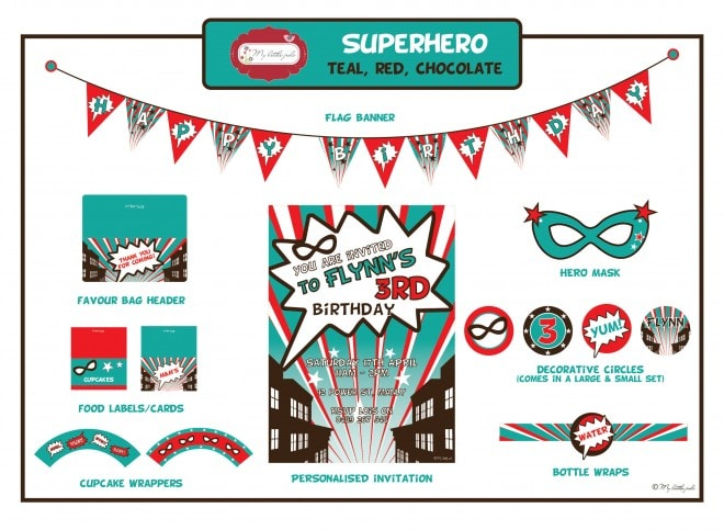 Superhero Party Suite Printables