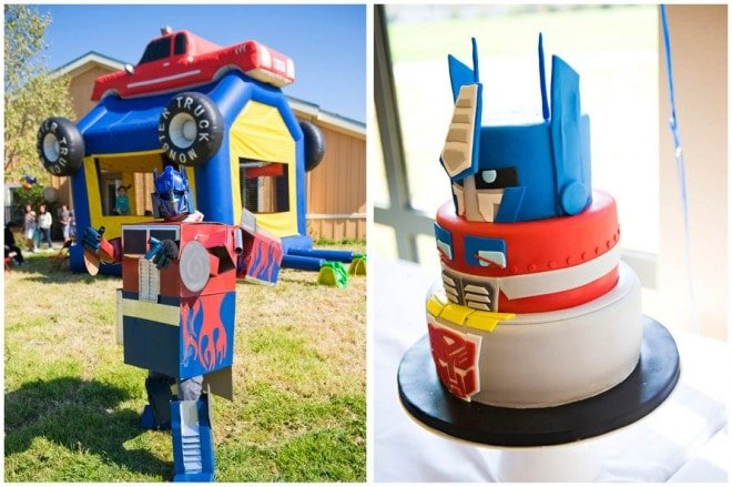 transformer birthday party decorations
